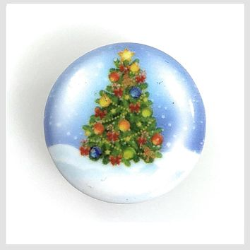 Painted Enamel Christmas Tree 20mm