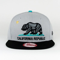 California Republic Gray Black Teal SNAPBACK