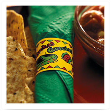 1 1/2 x 4 1/4 Mexican Fiesta Napkin Band/Case of 4000