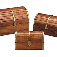 Asst. of 3 Barrel Top Wooden Boxes