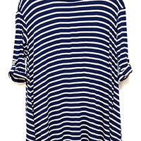Vacation Take-Along Tunic, Navy