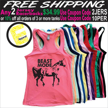 Beast Mode. Womens Clothing. Exercise. Motivation. Fitted. Run. Jogging. Health And Wellness. Workout Tanks. Fitness Tanks. Gym.