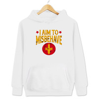 I Aim To Misbehave Firefly Women's & Men's Unisex White Pullover Hoodie