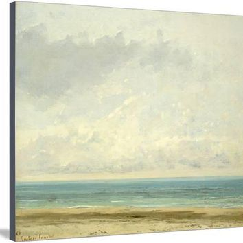 Calm Sea, 1866 Giclee Print by Gustave Courbet at Art.com