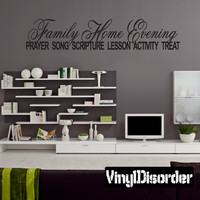Family home evening prayer song scripture lesson activity treat prayers Child Teen Vinyl Wall Decal Mural Quotes Words FHE006VII
