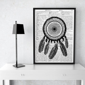 Ethnic decor Dreamcatcher poster Native American print  TO12