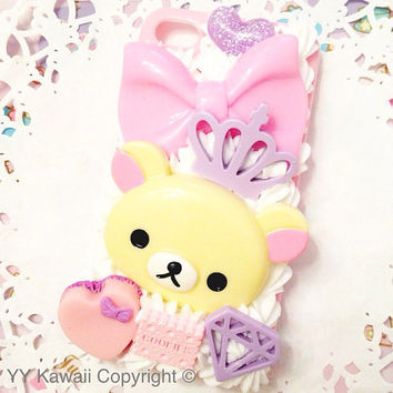 Custom Pink Decoden Kitty phone case for iPhone 4/4s, 5, samsung galaxy S2 S3 S4, Ipod Touch, HTC One X