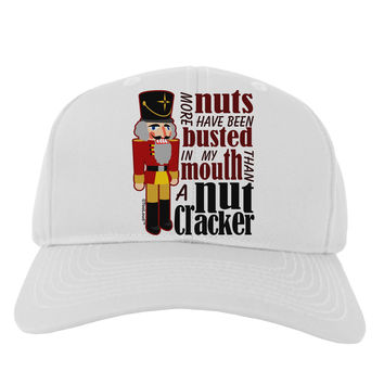 More Nuts Busted - My Mouth Adult Baseball Cap Hat by