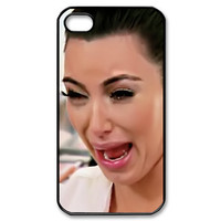 apple iphone case funny cute Kim kardashian ugly crying face 01 iphone 4, 4s or 5 case ( black, white or clear case )