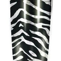 Spoontiques Zebra Print 16-ounce Insulated Travel Tumbler with Lid