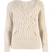 Cable hand knitted jumper - RUSSIE - Ted Baker