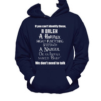 Supernatural, Dr. Who, Sherlock, Harry Potter, LOTR Fandom Hoodie