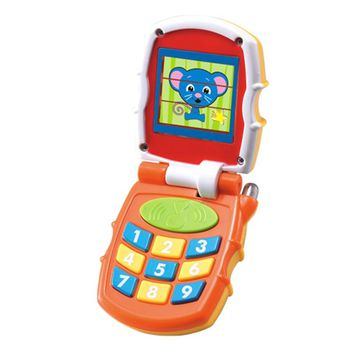Baby Toys Musical Sound Flip Phone Kids Learning Study Brilliant Basics Phone Educational Mobile Phone Electric Toy for Children