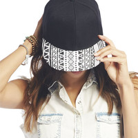 Tribal Print Brim Snapback Hat | Wet Seal