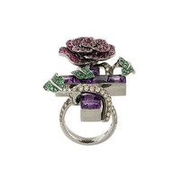 Lydia Courteille Diamond, Ruby And Amethyst Ring - Jewellery Atelier - Farfetch.com