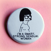 Tina Bob's Burgers  button badge 15 Inch by PKPaperKitty on Etsy