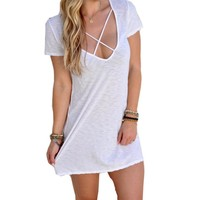 Women's Sexy & Club Above Knee Summer Polyester Mini Dress 0939-58