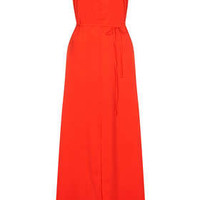 Strappy Cross Back Maxi Dress - Red
