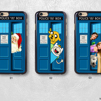 Doctor Who With Cartoon Characters Phone Case For iPhone 7 7 Plus case, H36