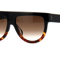 CELINE SHADOW FLAT TOP 41026 S - BLACK AND TORTOISE
