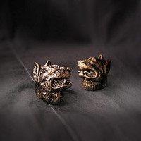 Animal cufflinks Dogs, copper, handmade, dog jewelry, unisex accessories, goth, electroforming
