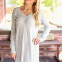Fast Forward Grey Sweater Dress