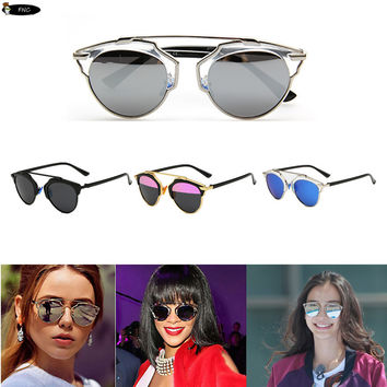 Polarized So Real sunglasses women Brand Designer metal frame reflective Polarized glasses for men women couple gafas De Sol