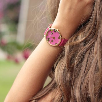 The Pink and Polk-a-dot Watch
