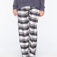 Cosmic Love Plaid Womens Flannel Pants Charcoal  In Sizes