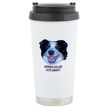 Border Collie Election Travel Mug