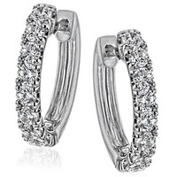 Simon G. Classic Mini-Hoop Diamond Huggie Earrings