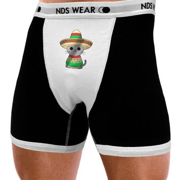 Sombrero and Poncho Cat - Metallic Mens NDS Wear Boxer Brief Underwear by TooLoud