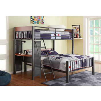 Walmart: Division Twin over Full Metal Loft Bed, Light Graphite