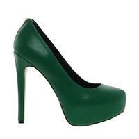 River Island Natter Green Zip Back Court Shoes