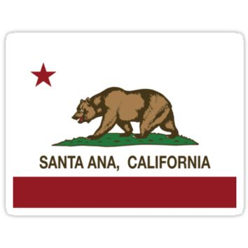 Santa Ana California Republic Flag