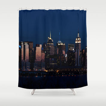 NYC Sunset Shower Curtain by JU.LIO