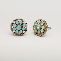 Pacific Opal Flower Stud Earrings - World Market