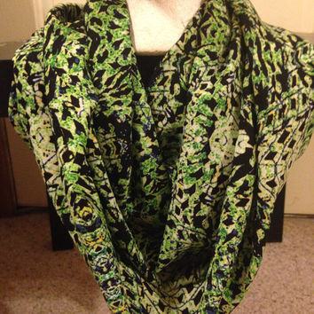 Handmade Women's St.Patrick's Day Green Scarf-Spring Infinity Scarf