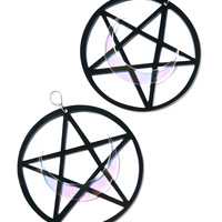 Marina Fini X Dolls Kill Luna Pentagram Earrings Black One