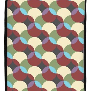 "Geometric Abstract AOP 17"" Neoprene laptop Sleeve 10"" x 14"" Portrait by TooLoud"