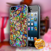 All Disney Heroes Stained Glass - Print on hard plastic case for iPhone case. Select an option