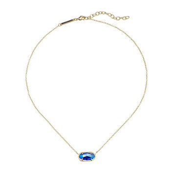 Kendra Scott Elisa Pendant Necklace Gold/Iridescent Cobalt Cat's Eye - Zappos.com Free Shipping BOTH Ways