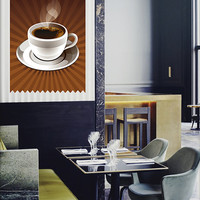 kcik492 Full Color Wall decal coffee cup drink cafe restaurant
