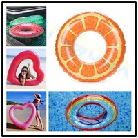 Beach Water Inflatable fruit orange Swimming Rings laps Giant Swimming Circle Pool party Adult kid toys Lifebuoy Float Mattress