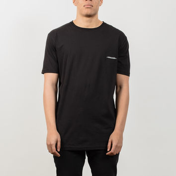 Villain Longline T-Shirt - Black