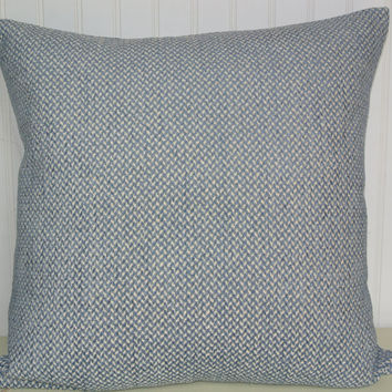 Chenille Throw Pillow Covers : Blue Chenille Decorative Pillow Cover-- from CodyandCooperDesigns