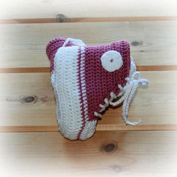 made to order baby crochet girls converse style boots booties shoes high tops 0 3m