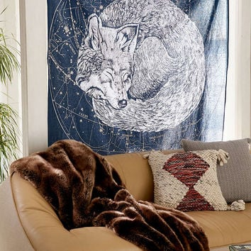 Sleeping Wolf Tapestry - Urban Outfitters