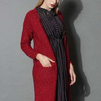 Make a Wish Longling Cardigan in Wine