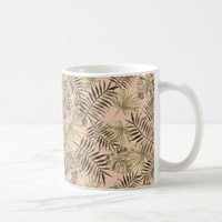 Palm leaf tropical mug